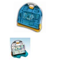 Esculape - Trousse de secours Multi Activités 12 pers, en mallette + Support Mural - Asep Optima 10