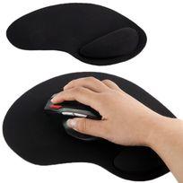 Yonis - Tapis de souris repose poignet de qualité ergonomique ultra fin noir