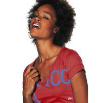 Grossiste-en-ligne - T-shirt Corail bi-matière avec dentelle sur le ... a4a313bd041