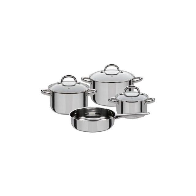 TecTake 12 pi/èces ensemble de marmites en acier inoxydable
