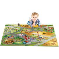 HOUSE OF KIDS - Tapis enfant antidérapant jeu circuit CONNECTE CHANTIER Tapis Enfants par