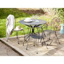 Salon jardin table ronde - catalogue 2019 - [RueDuCommerce - Carrefour]