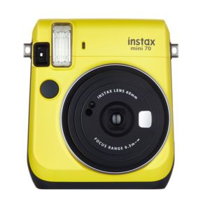 fujifilm appareil photo instantan instax mini 70 jaune. Black Bedroom Furniture Sets. Home Design Ideas