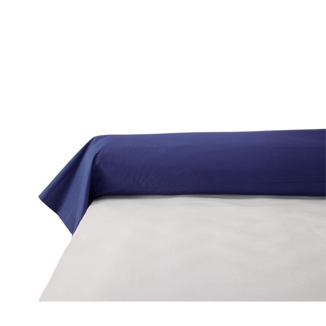 TEX HOME - Taie de traversin en percale, coton durable Marine foncé