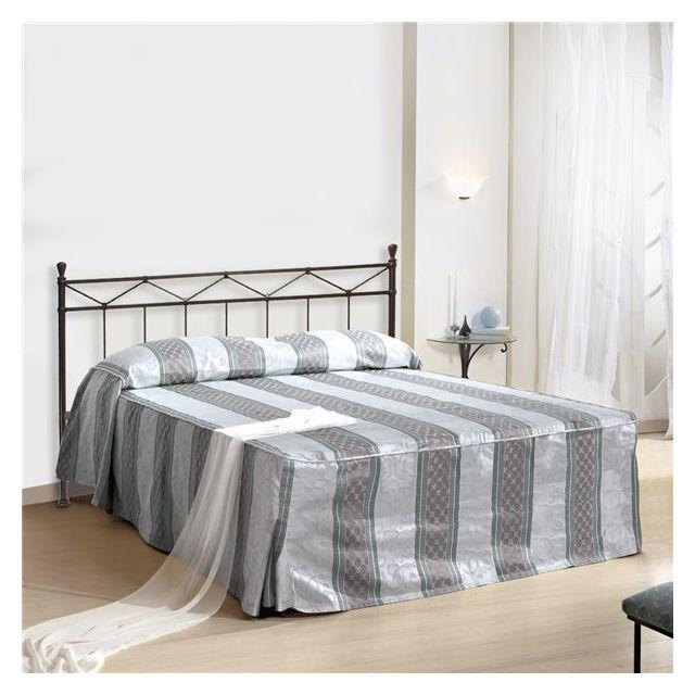 g n rique tete de lit 165 x 120 cm structure metal fer forge pas cher achat vente t tes de. Black Bedroom Furniture Sets. Home Design Ideas