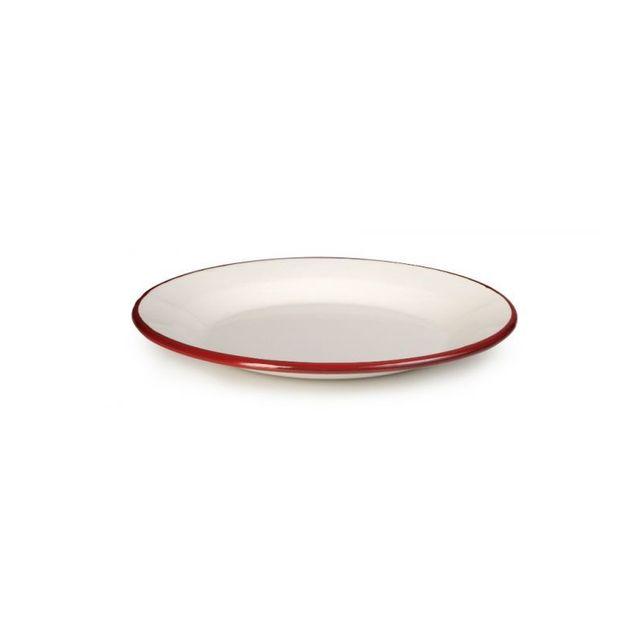 Ibili Assiette Plate Email Bordeaux 22cm