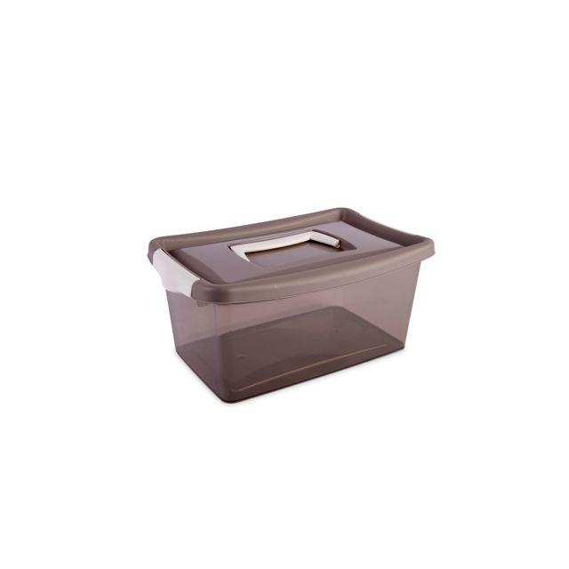 Carrefour Home Boîte De Rangement 4l Gris 30027