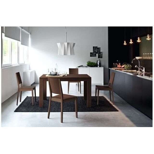 inside 75 table repas extensible vero 130x90 weng pas cher achat vente tables manger. Black Bedroom Furniture Sets. Home Design Ideas