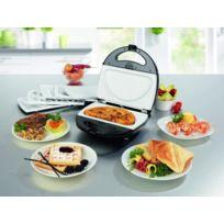 Gourmet-Maxx - Vario Chef 6 en 1 - 6 jeux de plaques amovibles revêtement céramique - Gaufres, sandwiches, donuts, omelette, grill, plancha