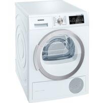SIEMENS - sèche linge à pompe à chaleur avec condenseur 60cm 9kg a++ blanc - wt47w490ff