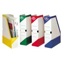 Fast - boites à pan coupé en carton, dos 8 cm, vert - carton de 25