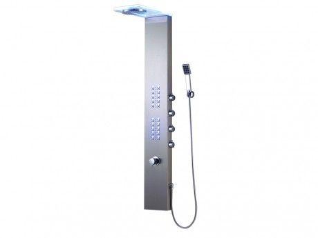 shower design colonne de douche hydromassante thermostatique leds alumnia 23 155cm pas. Black Bedroom Furniture Sets. Home Design Ideas