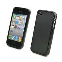 Sfr - Coque Minigel Smoke Noire Apple Iphone 4 / 4s