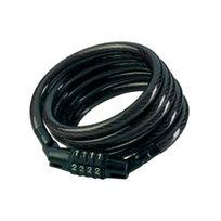 Masterlock - Câble acier gaine Pvc antivol s'enroulant A combinaison fixe Long.1,2m Larg.8mm
