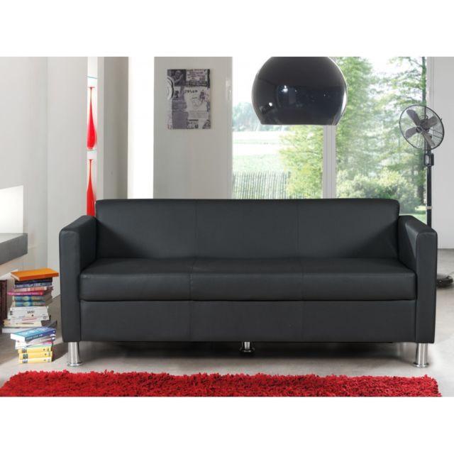 Rocambolesk Canapé Cubo 3 Seat pvc noir