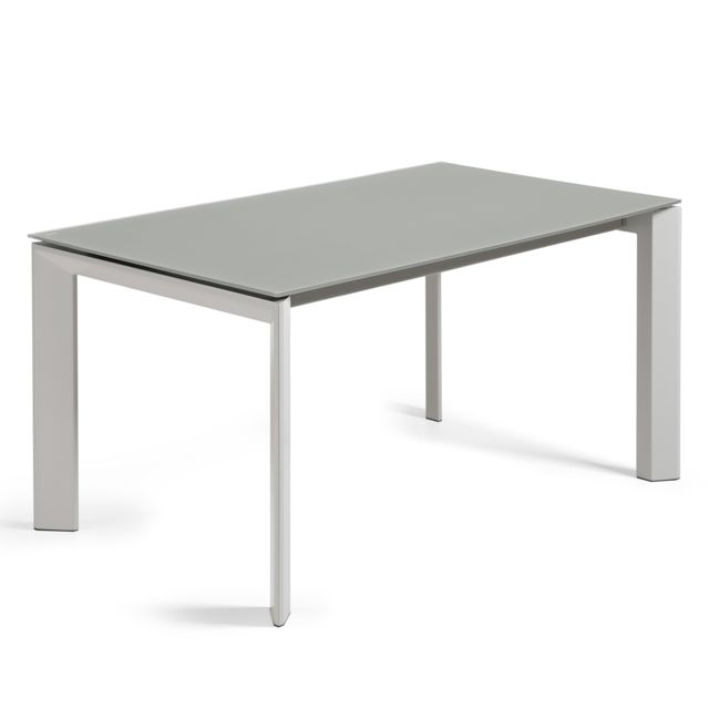Kavehome table extensible axis gris 160 220 x90 cm for Table extensible 160