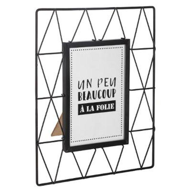 paris prix cadre photo en m tal fil 10x15cm noir pas cher achat vente cadres p le m le. Black Bedroom Furniture Sets. Home Design Ideas