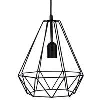 Paris Prix - Lampe Suspension Métal 26cm Noir