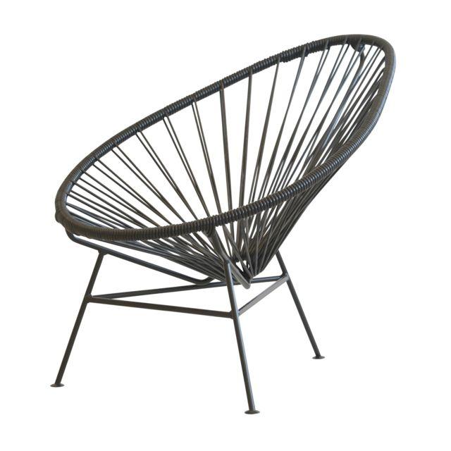 Ok Design Mini chaise Acapulco - noir