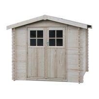 Decoretjardin - Abri de jardin bois Flodange 28 mm - 5,43 m² - Toit agglo