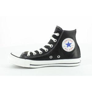 Converse All Star Leather Hi - Ref. 132170C Noir - Chaussures Basket montante Homme