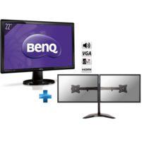 BENQ - 22 + Support de bureau pour 2 écrans plat de 10