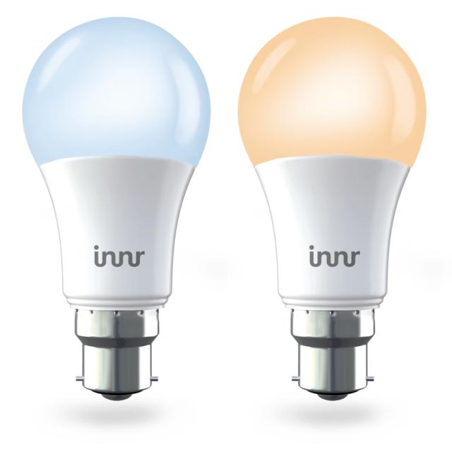 INNR - Ampoule connectée B22 - Blanc réglable - Pack de 2...