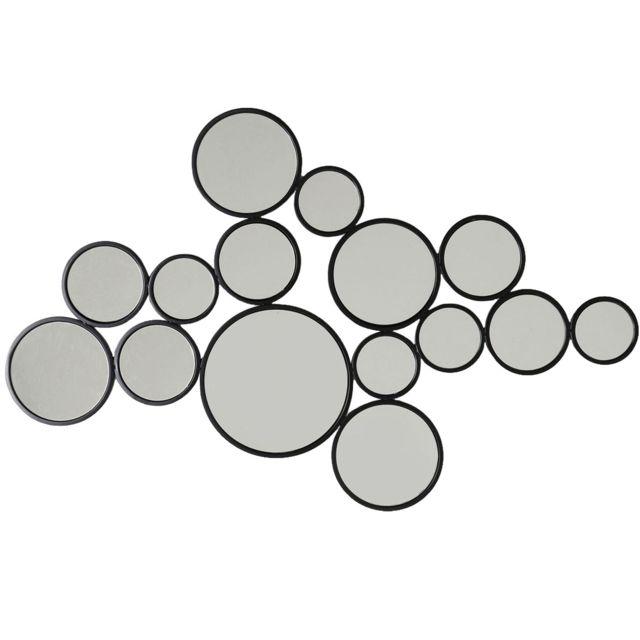 Karedesign Miroir Bubbles noir 93x138cm Kare Design