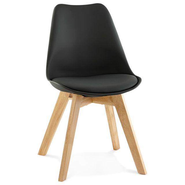 alterego chaise moderne teki noire - Chaise Moderne Pas Cher