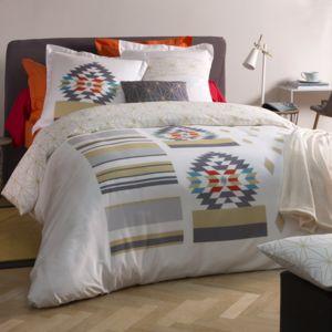 tradition des vosges parure housse de couette ethos motifs incas pas cher achat vente. Black Bedroom Furniture Sets. Home Design Ideas