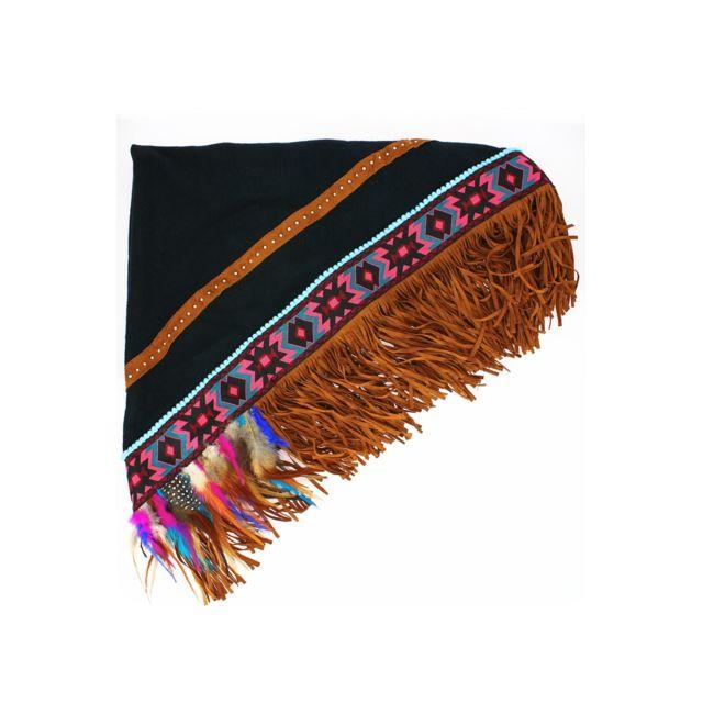 9cb79c450520 Zonedachat - Foulard plaid en forme triangulaire, indien, noir Tu - Noir - pas  cher Achat   Vente Echarpes, foulards - RueDuCommerce
