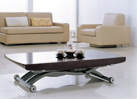 Giovanni Table basse relevable Cooper wenge