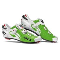 Sidi - Chaussures Wire Carbon Route vert fluo blanc vernis
