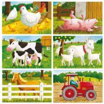 Ravensburger - Puzzle cubes - 6 cubes : Bienvenue à la ferme