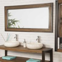 Miroir en teck - catalogue 2019 - [RueDuCommerce - Carrefour]