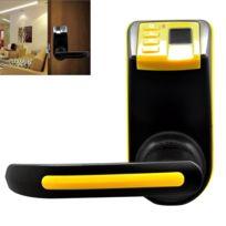 Wewoo - Badgeuse numérique jaune Serrure de porte d empreinte digitale avec  le mot de 0dd136c35c5