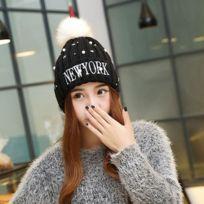8897ecc7de6d Wewoo - Bonnet noir Chapeau de dames de laine de style d hiver, couleur