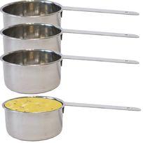 Touslescadeaux - 4 Mini Casseroles de présentation Inox - pour sauces, accompagnements