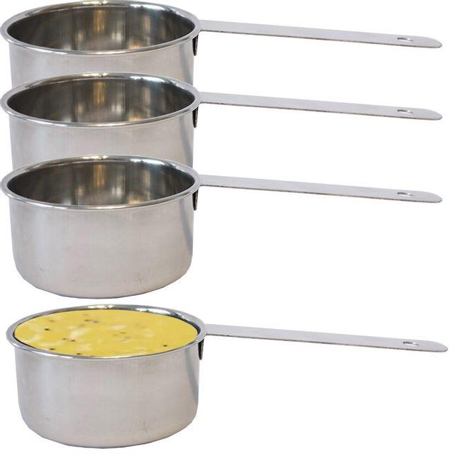 Touslescadeaux 4 Mini Casseroles de présentation Inox - pour sauces, accompagnements