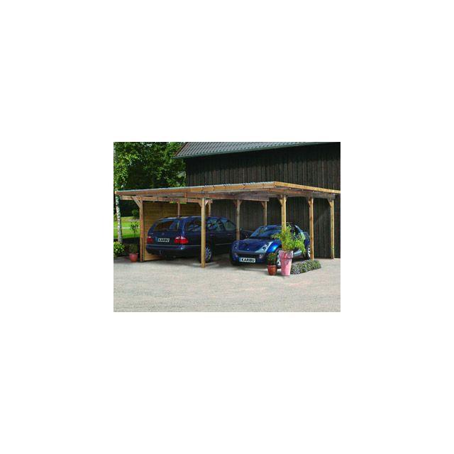 Karibu vigipiscine carport de stationnement carport for Karibu carport