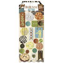 Bobunny - Boutons chipboard Safari 21 pièces