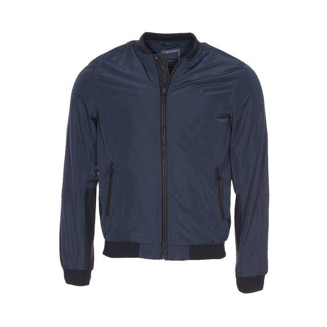 Blouson zippé Kaporal Volli bleu marine à empiècements noirs