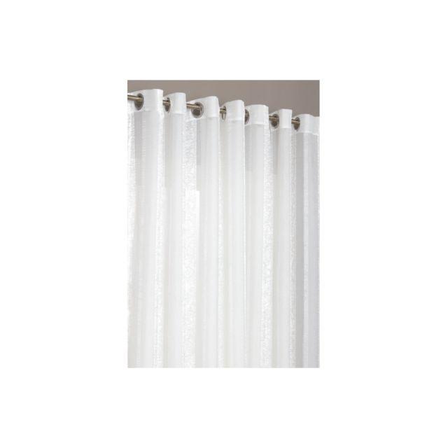 Rideaudiscount rideau voilage grande largeur 280 x 240 cm rayures style oriental pas cher - Rideau grande largeur pas cher ...