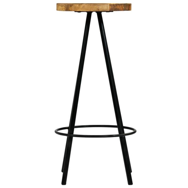 Chaises de bar 4 pcs Bois de manguier solide