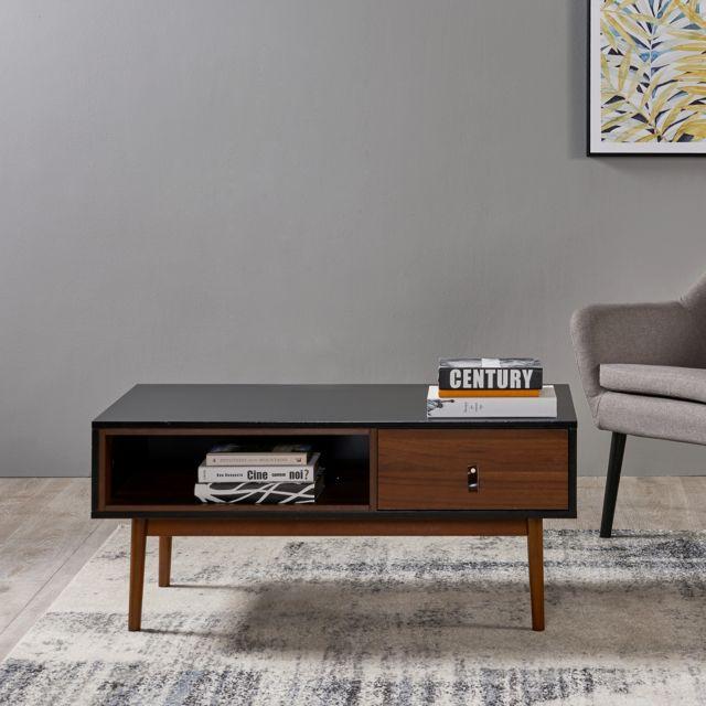 Table basse de salon en bois moderne milieu du siècle Reno VNF-00063