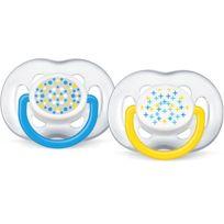 AVENT - 2 sucettes silicone aérées tendance 6-18 mois