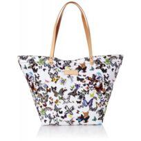 Christian Lacroix - Sac shopping Eden 1 Papillon Blanc