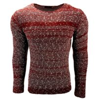 8f63ab5906ff Subliminal Mode - Pull homme col rond - Tricot grosse maille chiné - Col a  ras