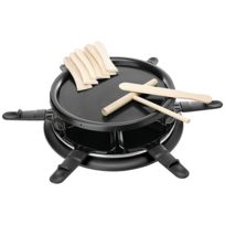 Harper - appareil à raclette 6 personnes 900w + gril + crêpière noir - six black