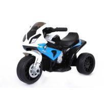 Bmw - S 1000 Rr Tricycle électrique pour enfants, Moto ? piles, 3 roues, sous licence, 1x moteur, batterie 6V, Bleu